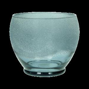 Dekoverleih Teelichthalter Blau geeist