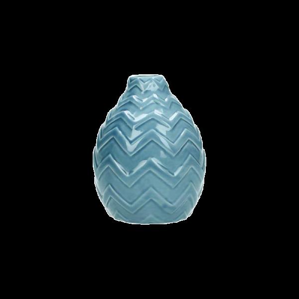 Verleih Vase Keramik blau