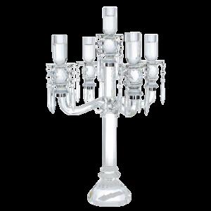 Dekoverleih Kristall Kerzenleuchter 5 arm