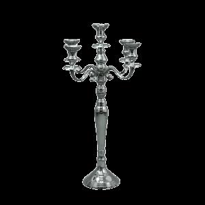 Dekoverleih Kerzenleuchter silber 80cm