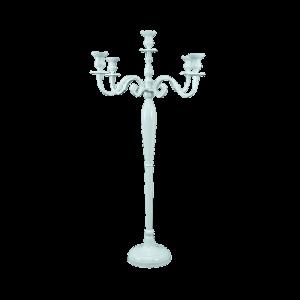 Verleih Kerzenleuchter weiß 120cm