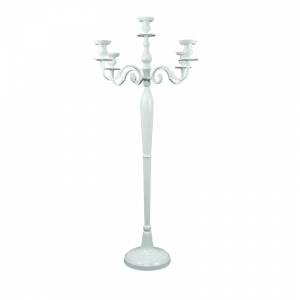 Verleih Kerzenleuchter weiß 145cm