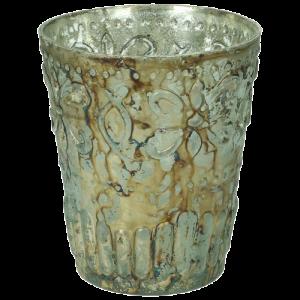 Vase Glas Barock teal