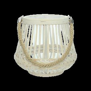Dekoverleih Laterne Bambus mit Kordelband