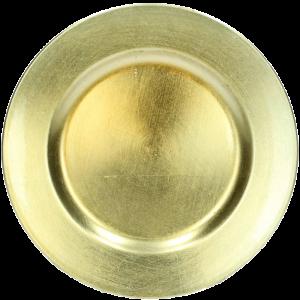 Verleih Platzteller Gold Kunststoff