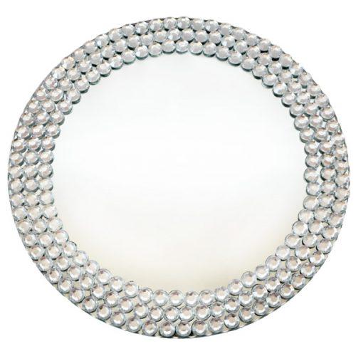 Verleih Platzteller Spiegel Kristall
