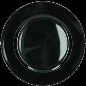 Verleih Platzteller Schwarz Kunststoff