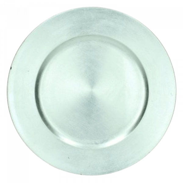 Verleih Platzteller Silber Kunststoff