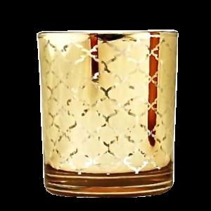 Dekoverleih Teelichthalter Gold Hochzeitsdeko