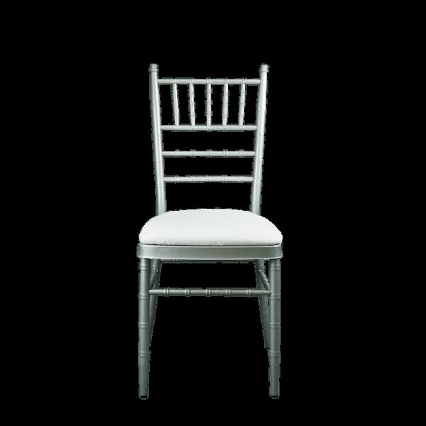Verleih Tiffany Chiavari Stuhl Silber