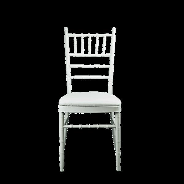 Verleih Tiffany Chiavari Stuhl Weiß