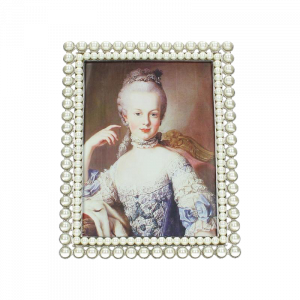 Dekoverleih Bilderrahmen Perlen Tischnummer