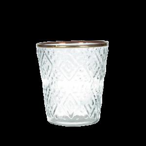 Dekoverleih Teelichthalter Goldrand Hochzeitsdekoration