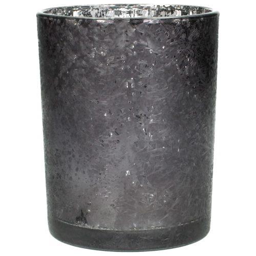 Vase Glas ice black
