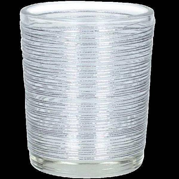 Dekoverleih Teelichthalter Silber Draht