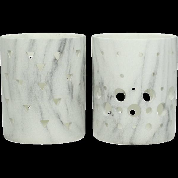 Dekoverleih Teelichthalter Marble Marmor