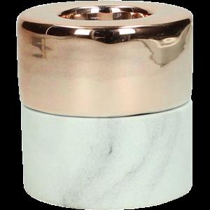 Dekoverleih Teelichthalter Marble Marmor Kupfer small
