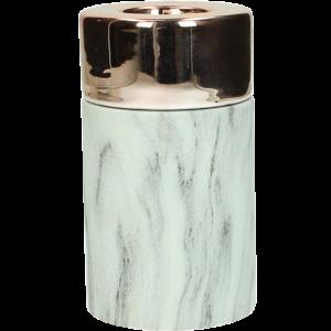 Dekoverleih Teelichthalter Marble Marmor Kupfer Medium