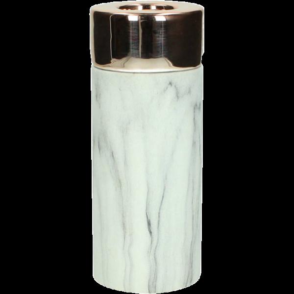 Dekoverleih Teelichthalter Marble Marmor Kupfer Large