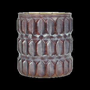 Dekoverleih Vase Burgundy Noppen