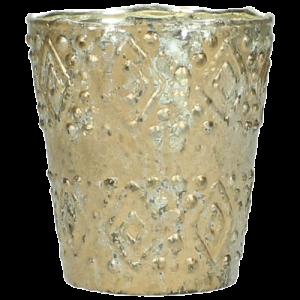 Vase Glas Gold