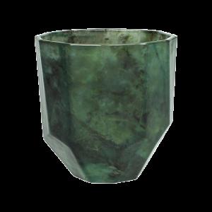 Vase Grün Marmor Facetiert