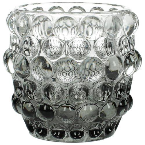 Vase Glas bubbles schwarz