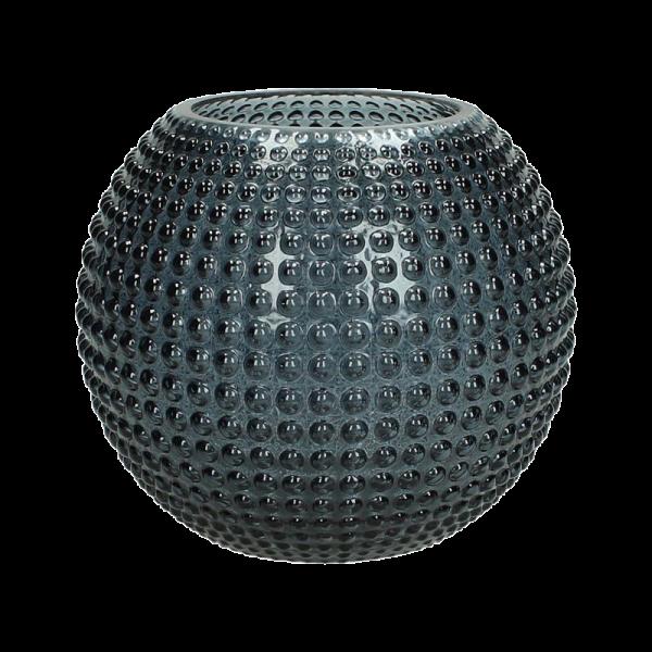 Dekoverleih Vase Kugel Blau Noppen