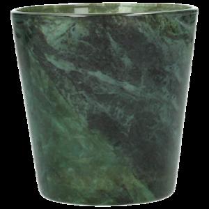 Vase Glas Grün marmoriert