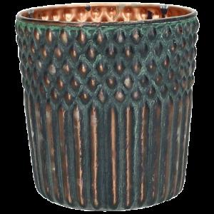 Dekoverleih Teelichthalter Grün Kupfer
