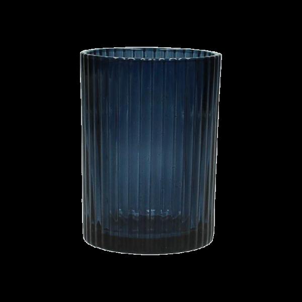 Dekoverleih Teelichthalter Blau Hochzeitsdeko