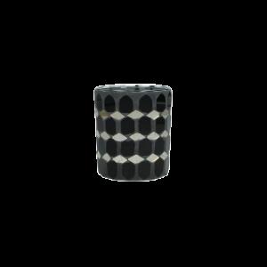 Dekoverleih Teelichthalter Black & Gold